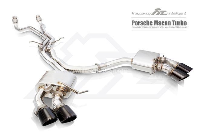 【YGAUTO】FI Porsche Macan turbo 2014+ 中尾段閥門排氣管 全新升級 底盤