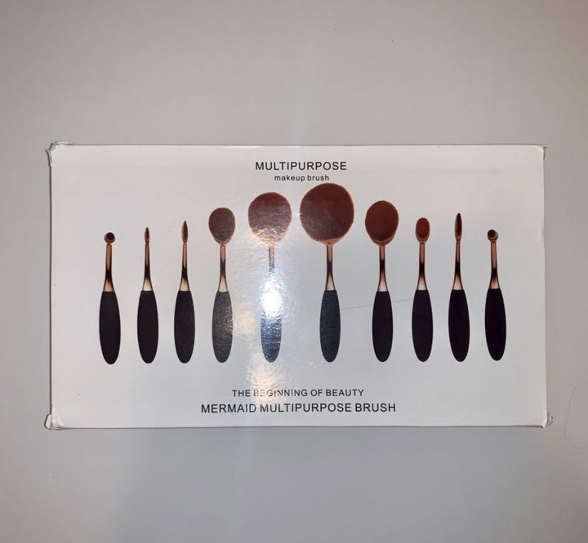 10 piece set oval brushes