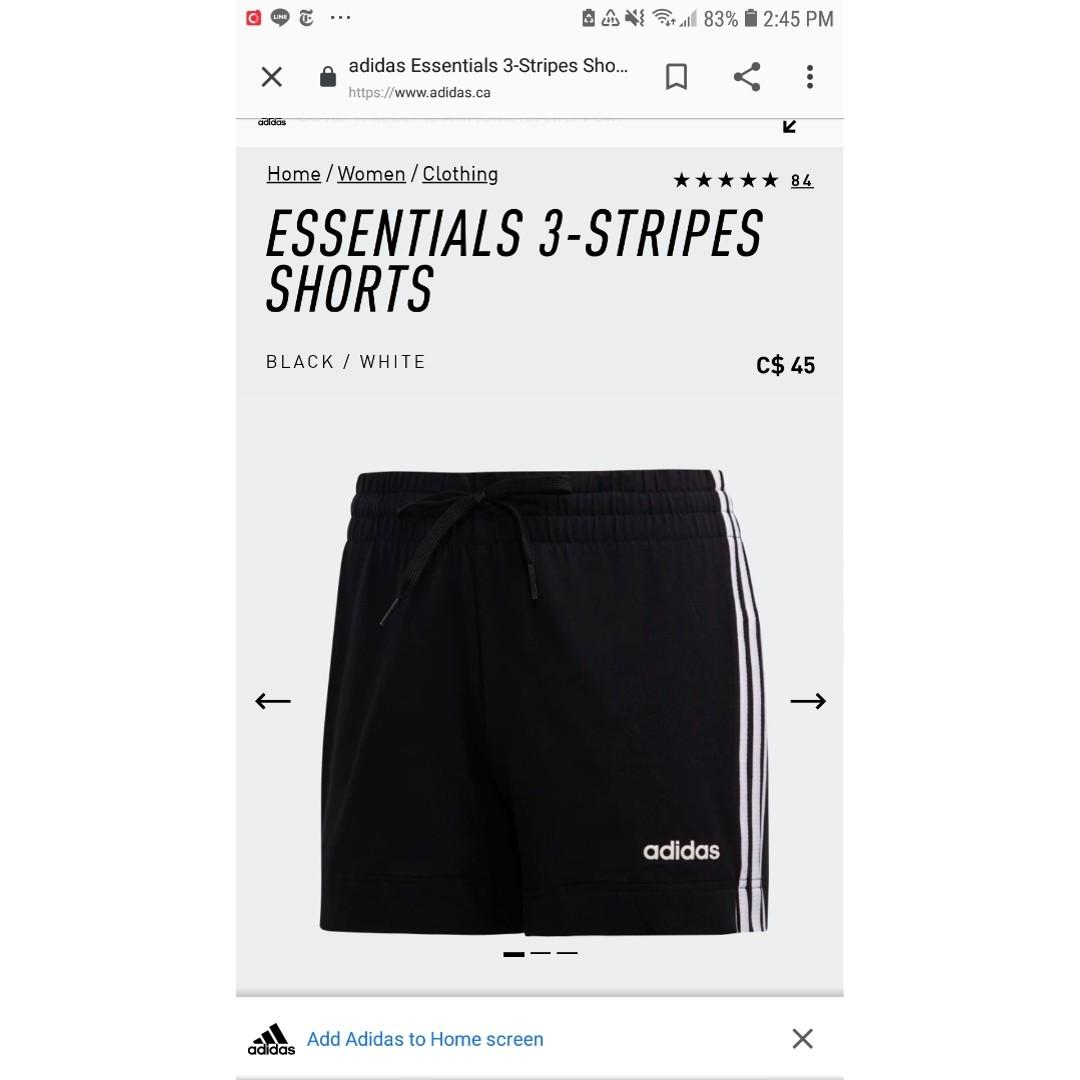 Adidas Essential 3-Stripes Shorts
