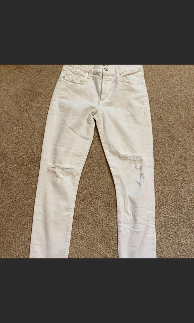AGOLDE size 27 white distressed jean