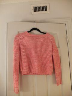 American Apparel Pink Cropped Sweater