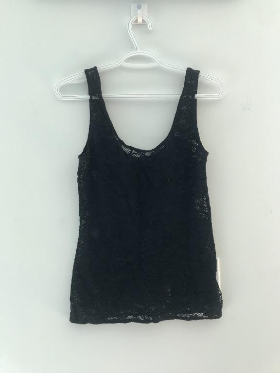 Aritzia Talula Black Lace Tank Top Size Small
