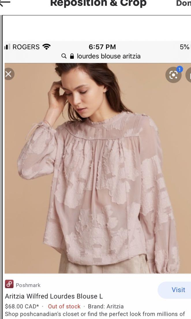 Aritzia Wilfred Lourdes blouse Camille pink colour size small