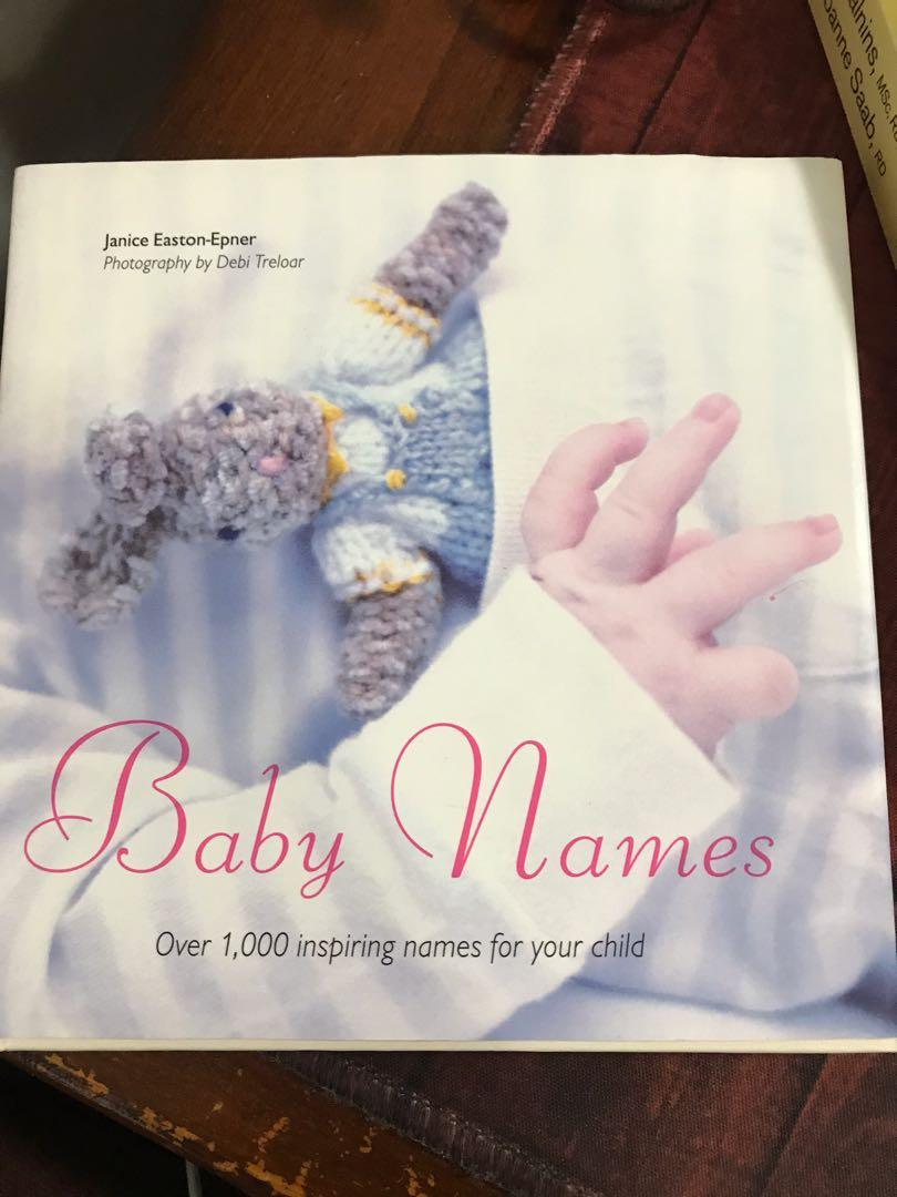 'Baby Names' book, by Janice Easton-Epner Hard cover.