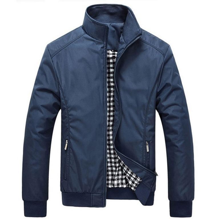 Blue Fall/Spring Jacket/Windbreaker (Size M)