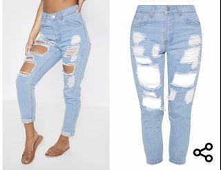 Boyfriend ripped jeans size 10