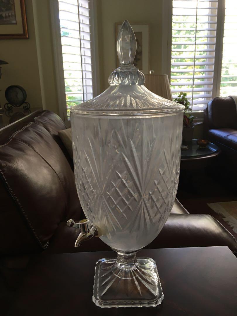 Crystal drink dispenser $20