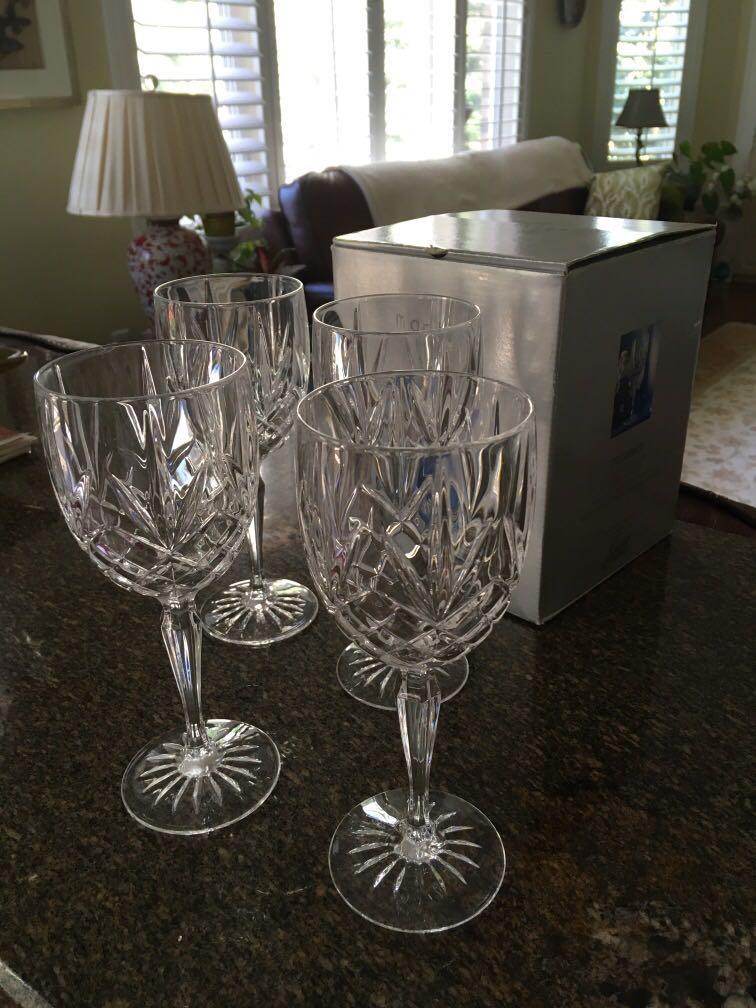 Crystal goblets Made in France $20
