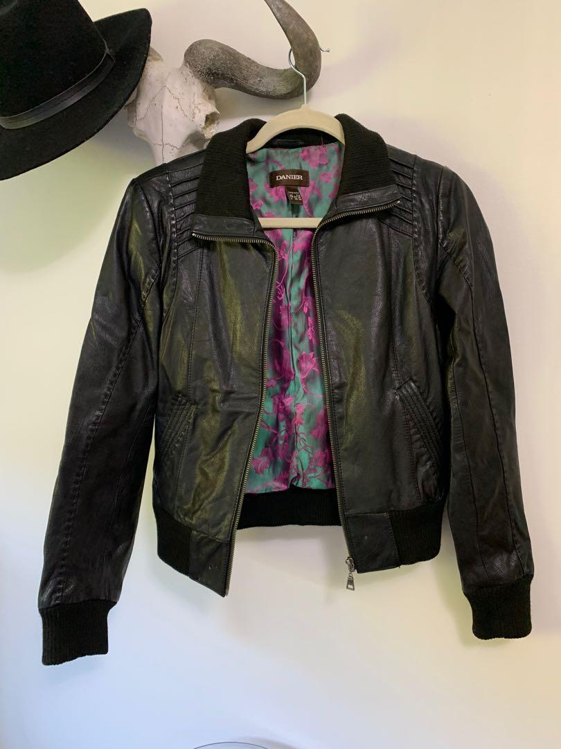 Danier leather jacket size xxs