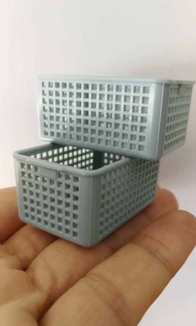 1:12 Dollhouse Miniature Wooden Storage Basket Model Container Accessories Toys