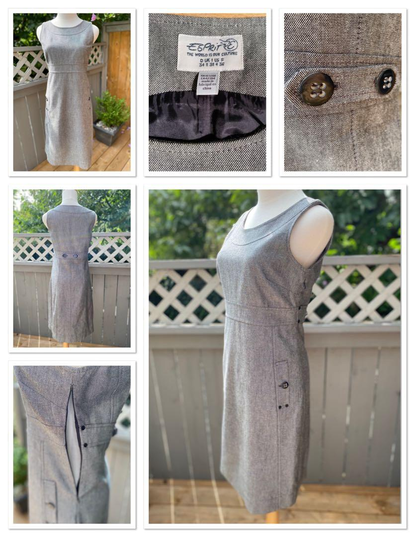 ⭐️⭐️Gorgeous and classic ESPRIT size 4 grey tunic dress⭐️⭐️NEW CONDITION ⭐️⭐️