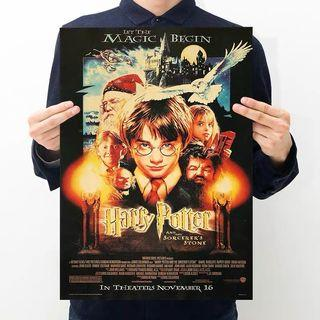 Harry Potter Poster and The Sorcerer's Stone Poster Vintage Kraft Wall Decoration Craft Paper