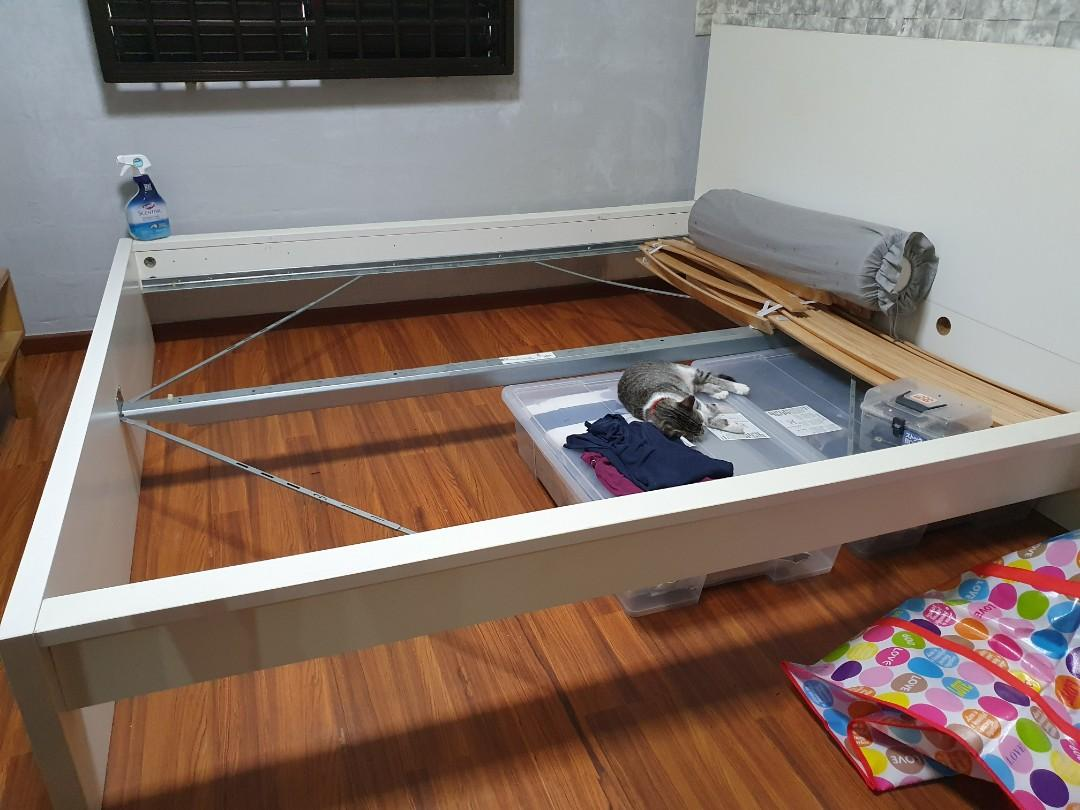 Ikea King Size Bed Frame Furniture Beds Mattresses On Carousell