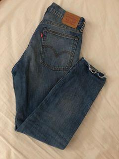 levi's raw denim skinny jeans size 27