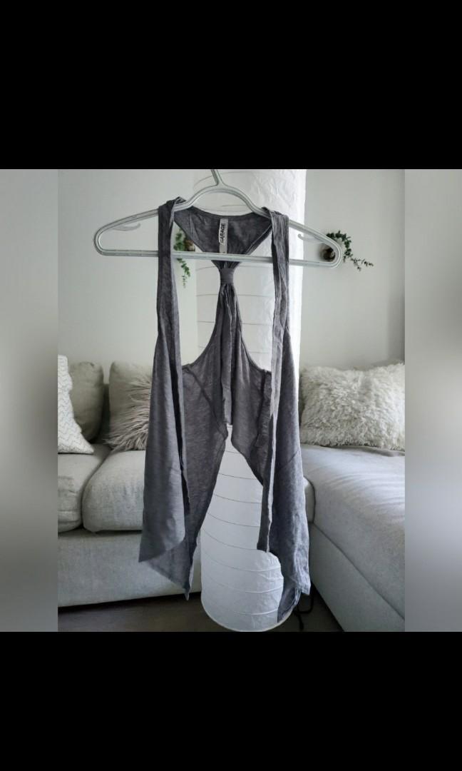 Light grey cardigan - high low style