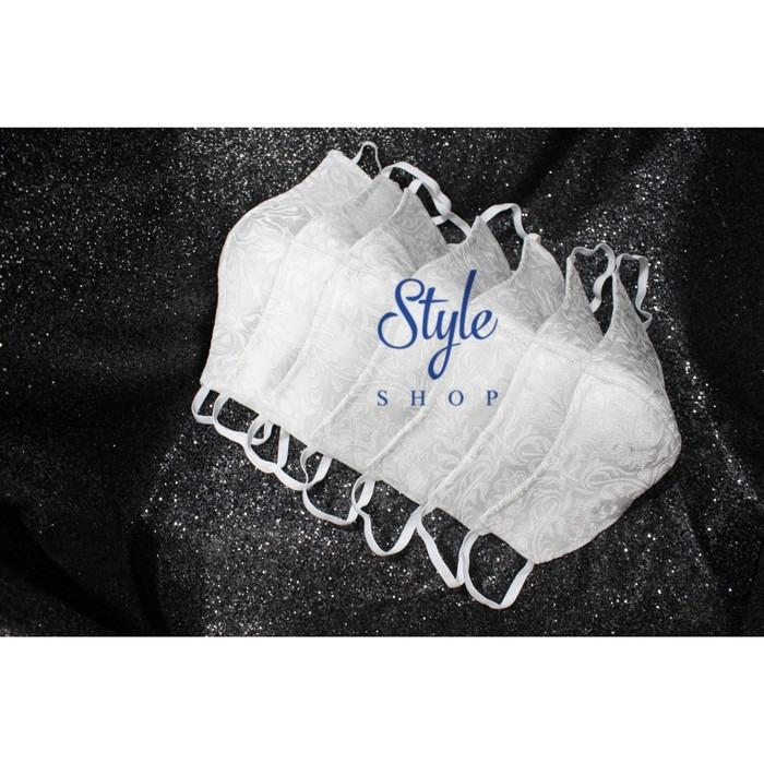 Masker kain Fashion jaguard silver- 3ply bisa Refill tissue