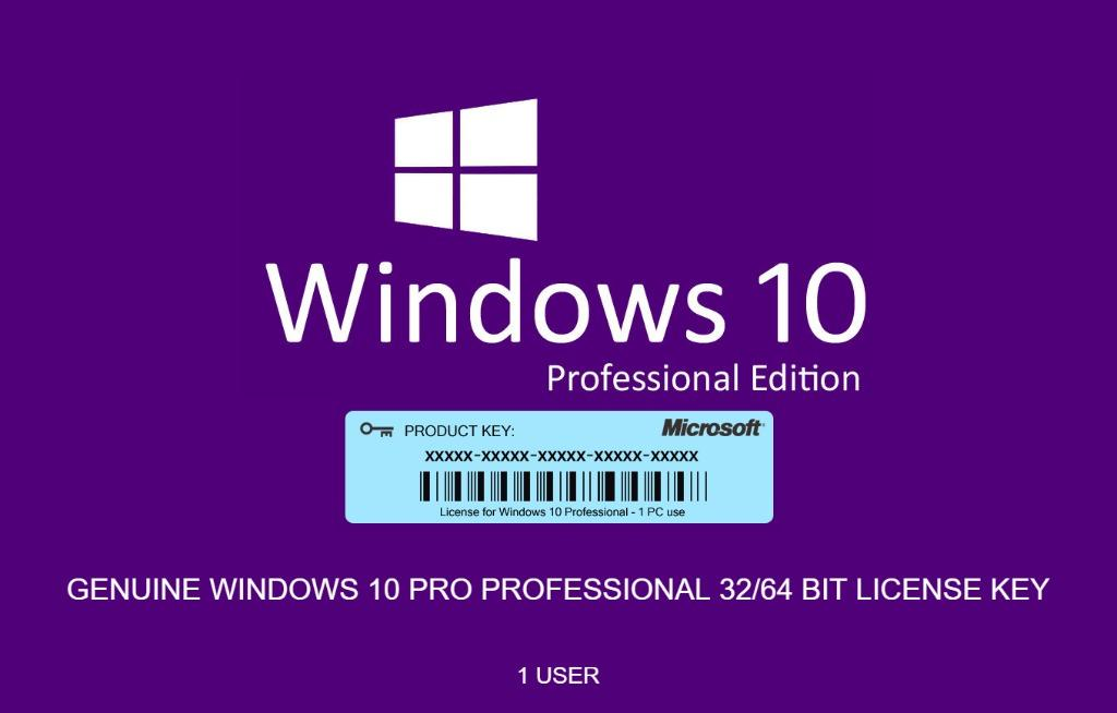 Microsoft Windows 10 Pro Product Key – Activation License