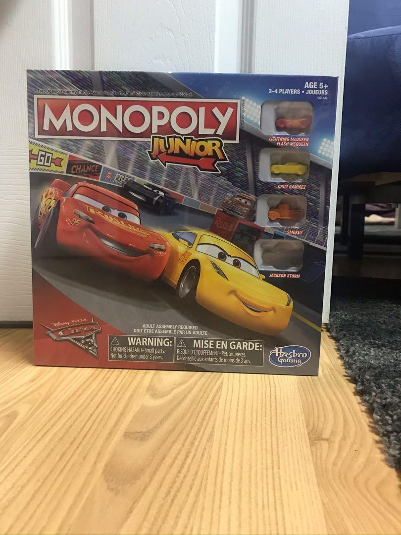 Monopoly board game, Junior Cars edition