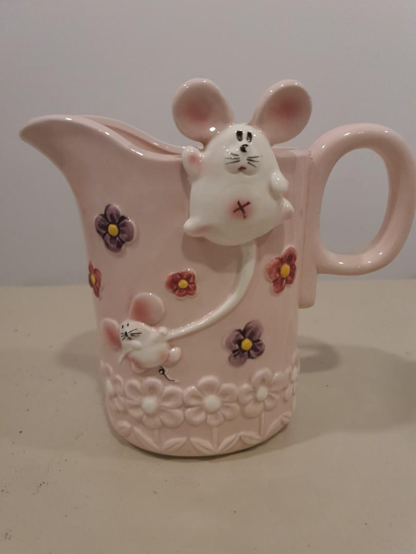 Pink Ceramic Jug/ Pitcher