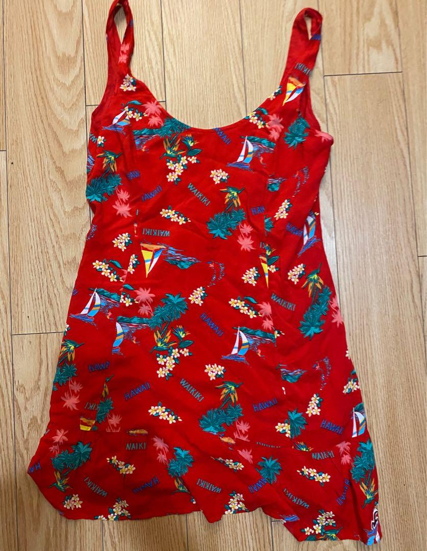 Red dress size m new