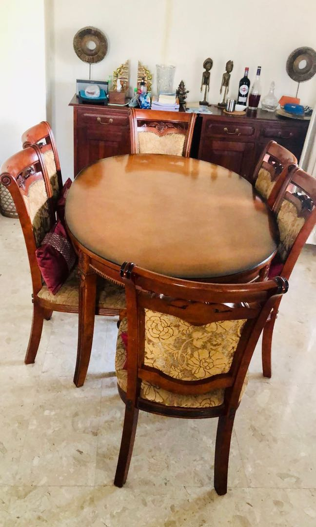 Teak Dining Table Set Furniture Tables Chairs On Carousell