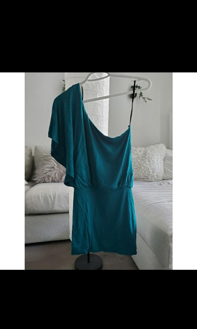 Teal/Turquoise off the shoulder top