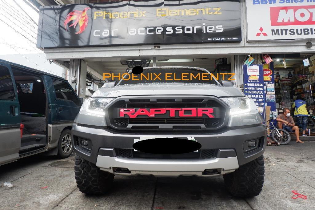 2018 To 2020 Ford Ranger Raptor Front Grill With Raptor Logo Silver Red Black Color Car Parts Accessories Body Parts And Accessories On Carousell