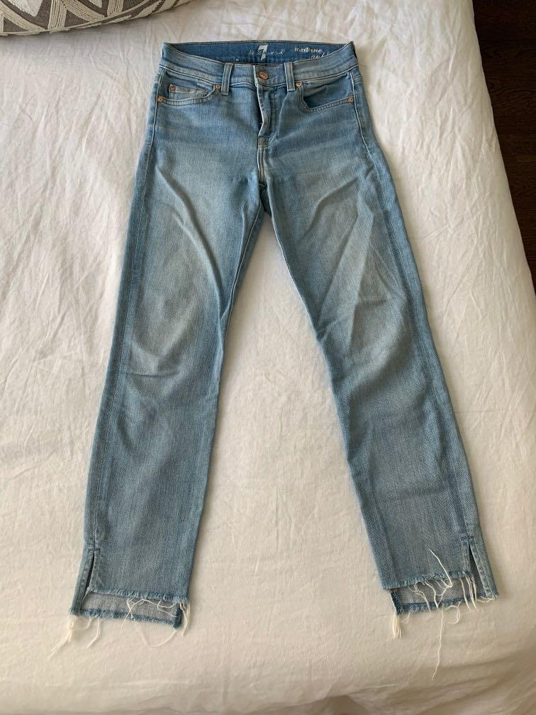 7 for all mankind jeans - size 24 - roxanne ankle