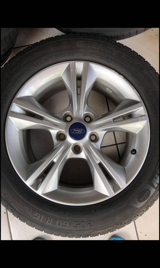 福特 Ford Focus mk3 5/108 16寸 四顆原廠輪框含米其林胎