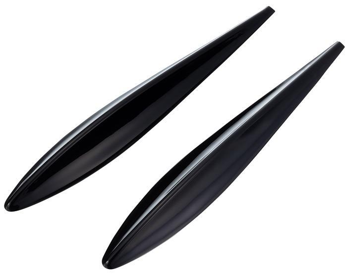 權世界@汽車用品 日本SEIKO 保險桿/車身 擾流式 防碰傷 防撞條/片 保護片(2入) 黑色 EW-146