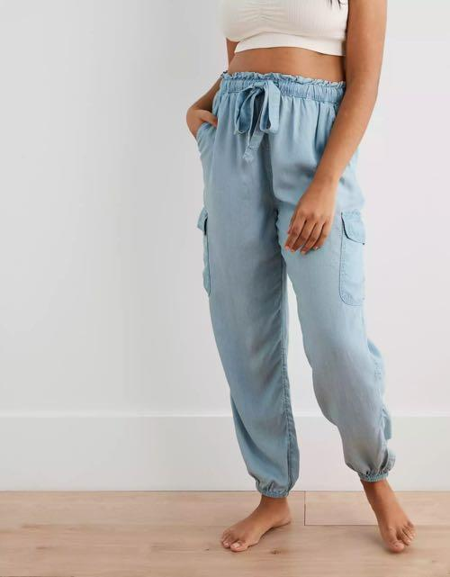 Aerie Front tie Cargo Joggers