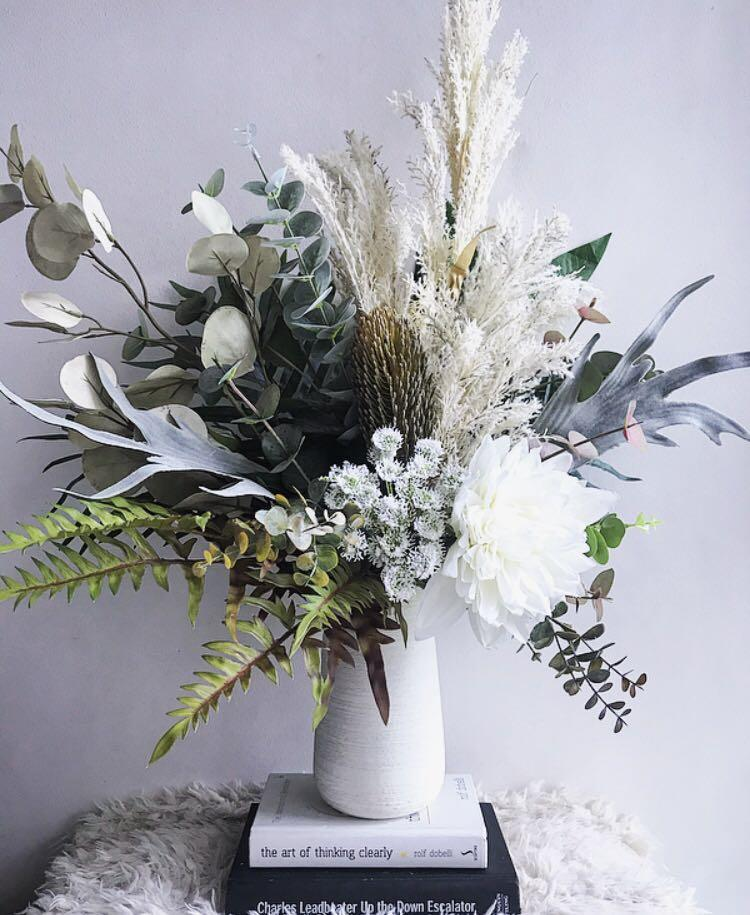 Artificial Flower Arrangement With Real Touch Flowers And Vase Gardening Flowers Bouquets On Carousell