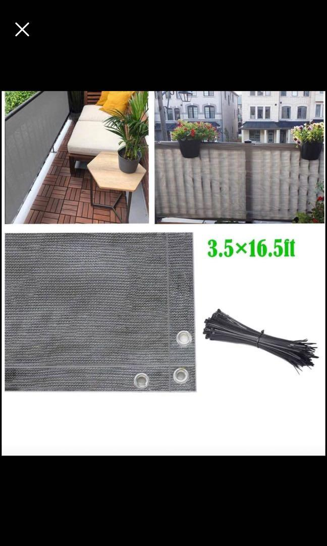 Brand new Balcony Privacy Screen Fence Cover, 3.5ft x16.5ft