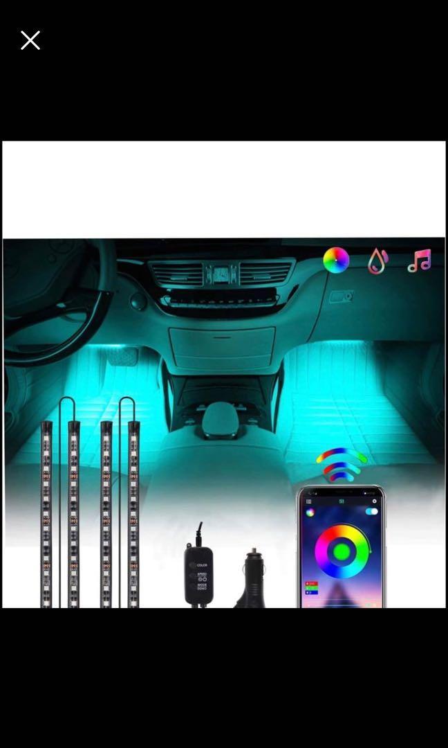 Brand new Interior Car Lights, 48 LEDs 4pcs Car LED Strip Lights