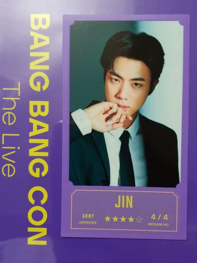 BTS 防彈少年團 BANG BANG CON 房房控 出道7週年演唱周邊 訊息小卡JIN 碩珍