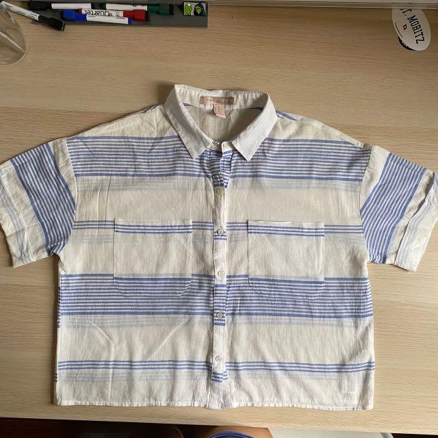 Flannel Crop Top