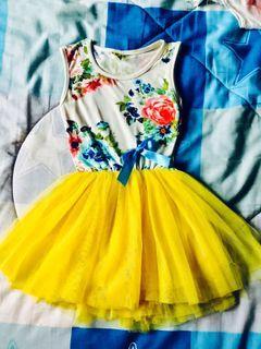 Floral Tutu Dress (yellow)