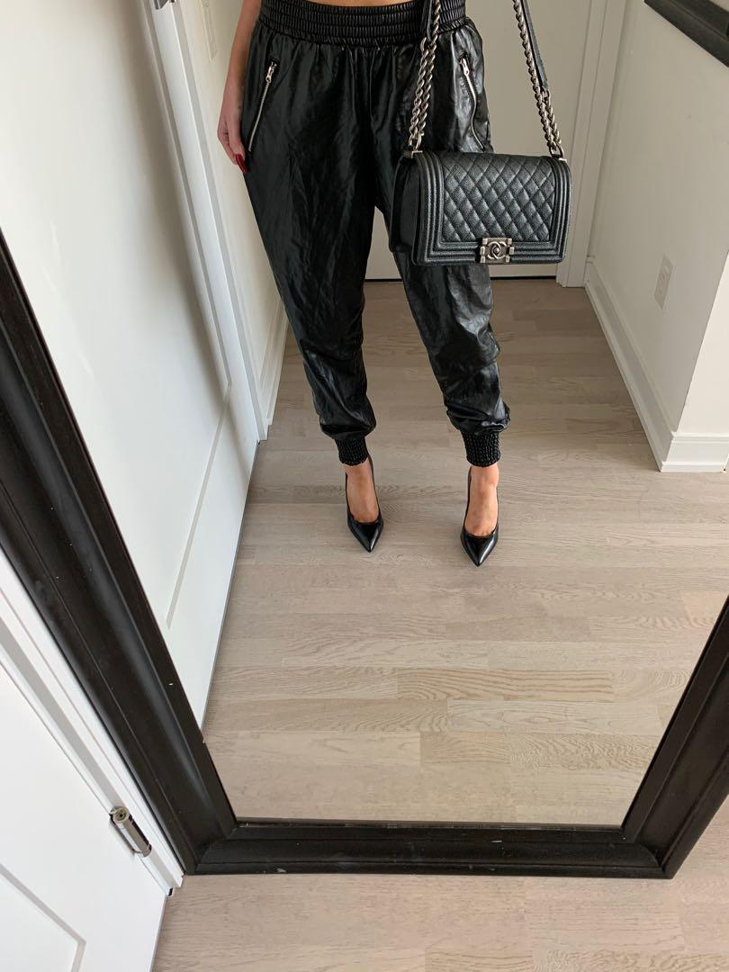 Forever 21 Faux Leather Joggers Size Small