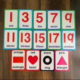 Giant Flash Cards (14 pieces)