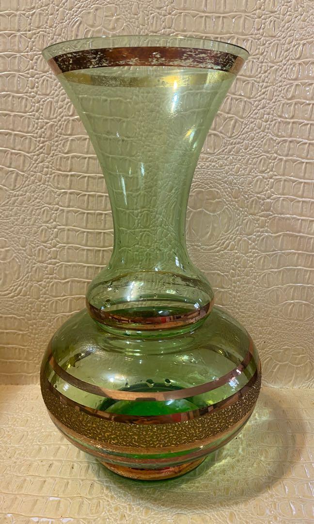 Glass Flower Vast Home Furniture Home Decor On Carousell