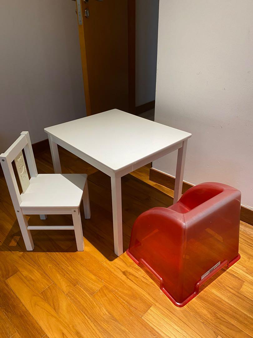 Picture of: Ikea Children Table Chair White Furniture Tables Chairs On Carousell