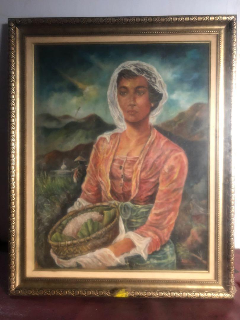 Lukisan Wanita Desa