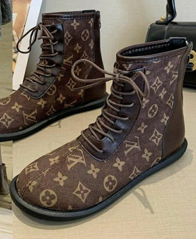 LV INSPIRED ANKLE BOOTS