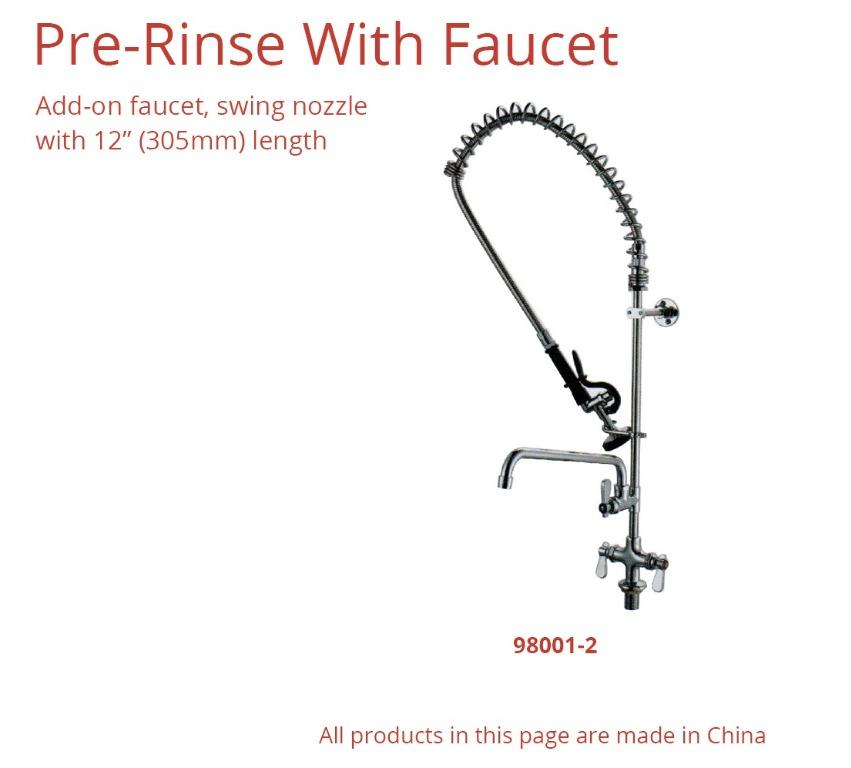 PRE-RINSE WITH FAUCET (980001-2)