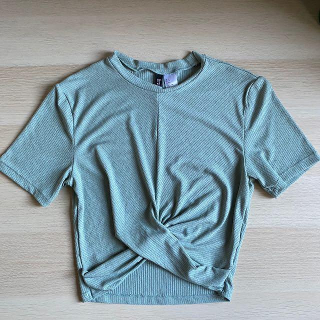 Ribbed Knot Front Tee