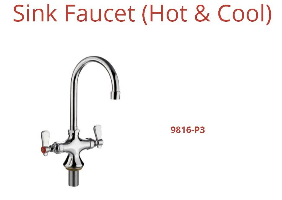SINK FAUCET HOT & COOL (9816-P3)