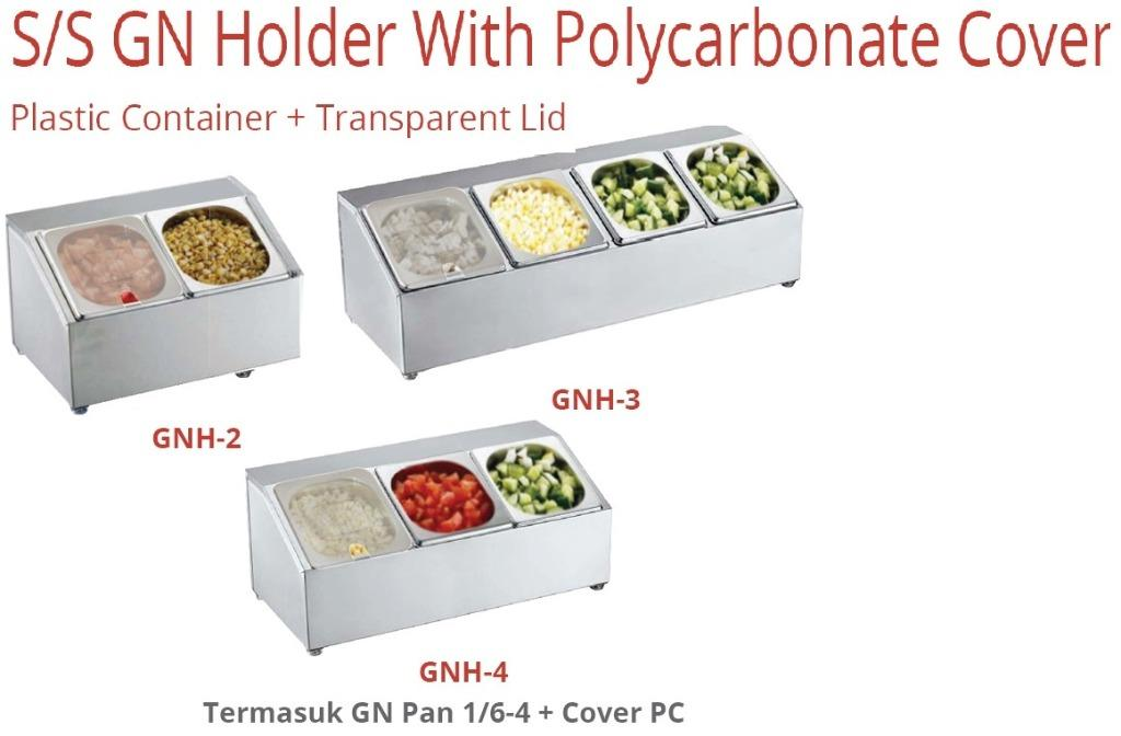 S/S GN HOLDER WITH POLYCARBONATE COVER (GNH-4)