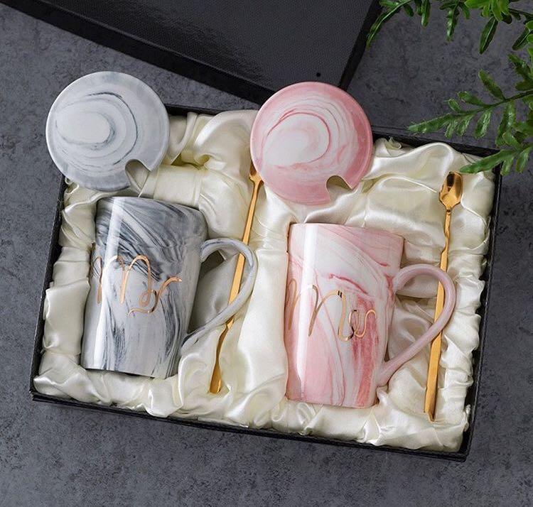 Tea set marble
