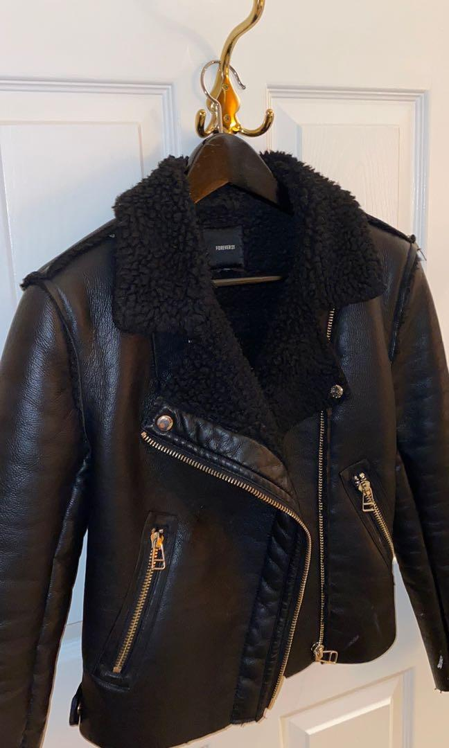 Used | F21 faux leather jacket