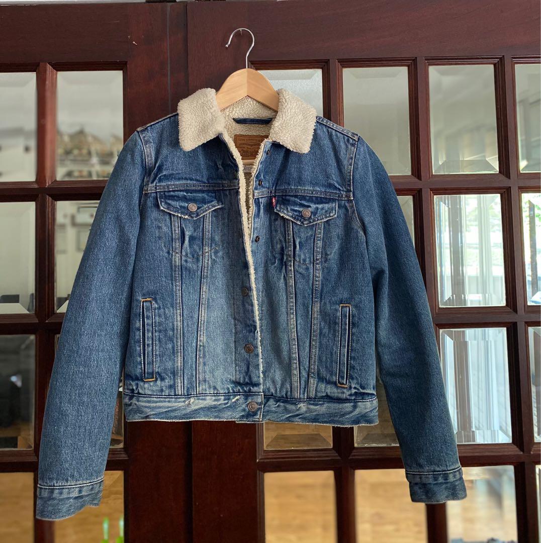 Women's Levi's Sherpa Denim Trucker Jacket